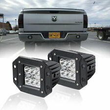 "2X 18W 4"" INCH FLUSH MOUNT PODS LED WORK LIGHT Reverse SPOT CUBE 2X3 PODS"