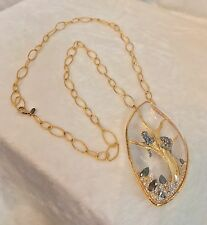 NEW ALEXIS BITTAR Gold Tone Siyabona LION TIGER LONG Necklace, RARE!!!