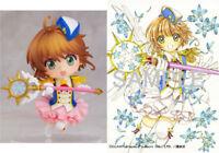 Card Captor Sakura Clear Card book & Nendoroid Petit Figure set manga From JAPAN