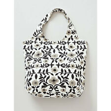 NEW Monotone Flower Floral Canvas Reusable Shopping Carry Bag