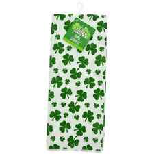 St. Patrick's Day Shamrock Polyester Hand Towels 15x25-in. Set of 2 w
