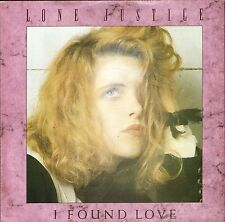 """LONE JUSTICE i found love/if you don't like the rain GEF 18 uk 1987 7"""" PS EX/EX"""