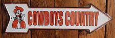 OSU Oklahoma State Cowboys Country Licensed Metal Arrow Sign College  Dorm Decor