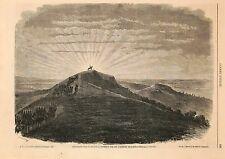 Stampa antica SOMMACAMPAGNA Napoleone III sulle alture Verona 1859 Old print