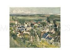 "CEZANNE PAUL - AUVERS, PANORAMIC VIEW, 1873/75 -ART PRINT POSTER 11"" X 14""(2134)"