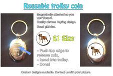 STAFFORDSHIRE BULL TERRIER DOG - REUSABLE £1 SHOPPING TROLLEY TOKEN - GREAT GIFT