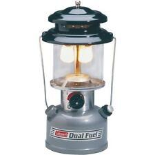 "2 Pk Coleman 13"" High Gray 2 Mantle Dual Liquid Fuel Camping Lantern 3000000923"