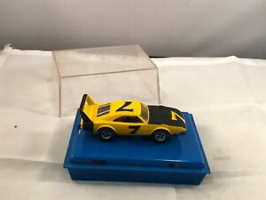 Aurora AFX Dodge Charger Daytona Yellow #7 Slot Car
