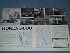 1965 Honda S-600 Roadster Vintage Road Test Info Article