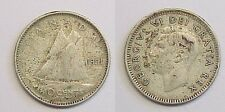 1951 Canadian Ten Cent Dime Canada Very Fine VF