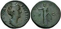 Faustina I Superb Sestertius Mother of Marcus Aurelius Ancient Roman Bronze Coin