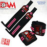 DAM WEIGHT LIFTING GYM TRAINING WRIST SUPPORT STRAPS WRAPS BODYBUILDING