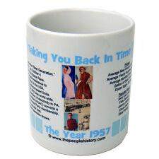 1957 Year In History Coffee Mug Includes Gift Box Born In 1957 Birthday ( Blue )