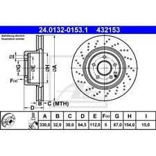 SATZ 2x ATE Bremsscheibe MERCEDES-BENZ E-CLASS (W211)  MERCEDES-BENZ E-CLASS T-