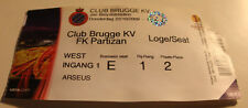 Ticket for collectors EL Club Brugge - Partizan Beograd 2009 Belgium Serbia