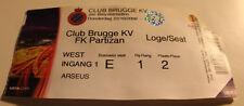 Ticket for collectors EL Club Brugge - Partizan Beograd 2009 Belgium Serbia
