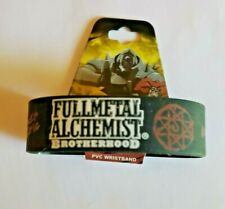Full Metal Alchemist Brotherhood Pvc Wristband Licensed by Ge