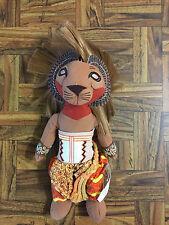 "Lion King Broadway Musical 10"" Simba Disney bean bag stuffed plush w/ tush tags"