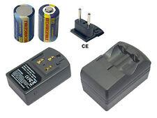 Ladegeräte für Canon ELPH Sunshine, ELPH Z3,CR-2,CR2 (Inkl.2X Akkus)