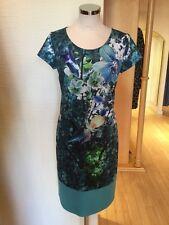 Roberto Naldi Dress Size 12 BNWT Blue Green Turquoise RRP £157 Now £55