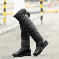 New 2018 Womens Thicken Warm Winter Wedge Knee High Boots Casual Snow Shoes Sz