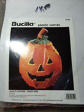 Bucilla Jack-o-lantern Candy Dish 6129 Unopened Pumpkin Halloween
