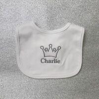 Baby Girl Clothing Princess Crown Mignon Bib baby shower cadeau nouveau bébé cadeau