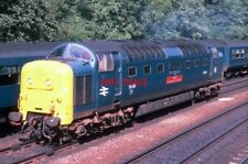 PHOTO  CLASS 55 DIESEL 55019  ROYAL HIGHLAND FUSILIER  AT PRINCES STREET GARDENS