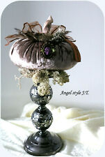 Handmade Luxurious Pumpkin,  Pale pink color, Shabby chic