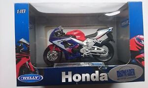 WELLY HONDA CBR 900RR FIREBLADE 1:18 DIE CAST MODEL NEW LICENSED MOTORCYCLE
