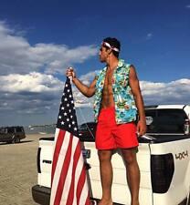 **New** Mens Hawaiian Party Muscle Sleeveless Shirt 100% cotton S M L XL