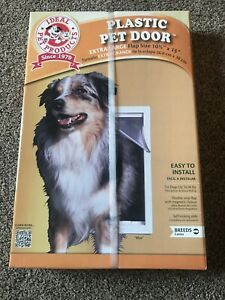 "NEW Ideal Extra Large XL Plastic Pet Dog Door Mount Flap & Frame 10 1/2"" x 15"""