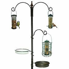 More details for garden wild bird feeding station water bath seed tray hanging feeder