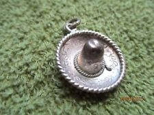 Silver Sombrero Rope Pendant Charm Adorable Little Vintage .925 Sterling
