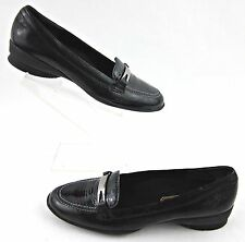 Munro American 'Brook' Loafers Black Snake Patent Leather Sz 6N
