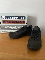 Skechers Cessnock No Slip Soft Toe Work Shoes, Men Size 10.5, Black Memory Foam