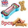 5PC Stainless Steel Biscuit Baking Dog Bone Cutter Fondant Cookie Mold UK Stock