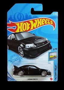 Hot Wheels - HONDA CIVIC SI BLACK - FACTORY FRESH - H Case 2021