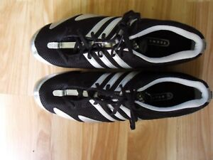 Adidas Men's Techstar Cosmos Black Silver Track Running Spikes Shoes Size 13