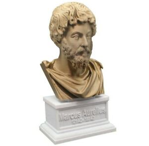 Marcus Aurelius 3D Printed Bust Roman Emperor Caesar Art FREE SHIPPING