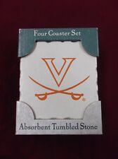 New Stone Cork-Backed University of Virginia Cavaliers White Logo Coasters 4x4