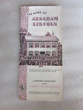 1955 The Home of Abrahan Lincoln Springfield Illinois brochure
