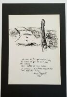 "Marc Chagall ""The Seine Bridges"" Mounted Lithograph 9'' x 13'' 1968 b/w Sketch"