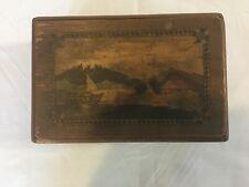 Vintage Japanese Wooden Puzzle Box Music Note Yosegi