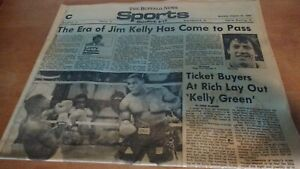 1986 Buffalo Sports Newspaper - Jim Kelly Signs With Bills