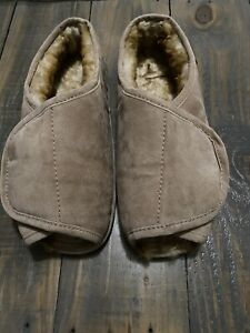 Old Friend Mens Sherpa Lined Warm Slippers Size 10.5-11.5