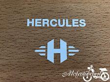 "Hercules ""H"" Aufkleber weiß Sattelrohr Rahmen Herkules M Prima 2 3 4 5 Optima"