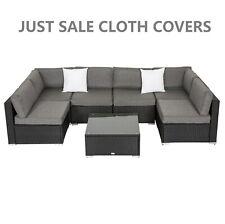 Patio Furniture Cloth Cover  For 7 Pcs Rattan Wicker Sofa Table Slate