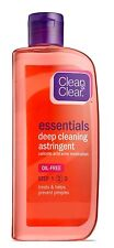 Clean & Clear ESSNTIALS Deep Cleaning Astringent  , 8-Ounce (Pack of 2)