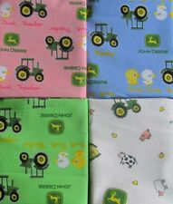 John Deere Tractor Baby Fat Quarter Set of 4 Different Colors on Cotton Fabric